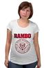 "Футболка для беременных ""Rambo"" - боевик, рэмбо, сильвестр сталлоне, rambo, sylvester stallone"