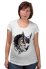 """Футболка для беременных """"Owl Gray"""" - взгляд, сова, филин, owl"""
