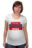 """Футболка для беременных """"KGB - Russia"""" - kgb, russia, кгб, путин, россия"""