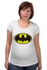 "Футболка для беременных ""Бэтман"" - batman, супергерой, бэтман"