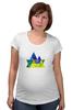 """Футболка для беременных """"Весна в горах"""" - орнамент, акварель, абстрактный, треугольный, геометрический"""