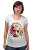 """Футболка для беременных """"Альберт Эйнштейн (Albert Einstein)"""" - albert einstein, физика, полигоны, polygons, альберт эйнштейн"""