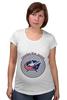 "Футболка для беременных ""Коламбус Блю Джекетс"" - хоккей, nhl, нхл, columbus blue jackets, коламбус блю джекетс"
