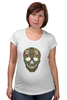 "Футболка для беременных ""Череп"" - skull, череп, узор, паттерн, символ, дудл"