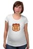 "Футболка для беременных ""Route 66"" - арт, авторские майки, америка, usa, дорога, road, сша, путешествие, los angeles, california"