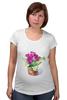 """Футболка для беременных """"цветы """" - арт, цветы, акварель, герань"""