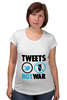 "Футболка для беременных ""Tweets Not War"""