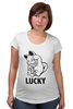 """Футболка для беременных """"Манэки-Нэко (Кот Счастья)"""" - удача, cat, lucky, кот счастья, манэки-нэко"""