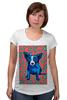 "Футболка для беременных ""Синий Пес"" - сердце, dog, пес, собака, blue dog"