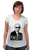 """Футболка для беременных """"Путин - я читаю ваши мысли!"""" - москва, россия, путин, президент, putin"""