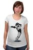 """Футболка для беременных """"Robocop x Jackson"""" - пародия, майкл джексон, mj, робокоп, robocop"""