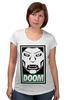 """Футболка для беременных """"Доктор Дум (Doctor Doom)"""" - доктор дум, doctor doom, fantastic four, виктор фон дум, victor von doom"""