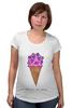 """Футболка для беременных """"Diamond ice cream"""" - арт, мороженое, ice cream, diamond"""