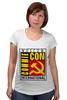 """Футболка для беременных """"Moscow Commie Con"""" - ссср, пародия, коммунизм, серп и молот, comic con"""