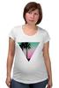 """Футболка для беременных """"Miami Triangle"""" - пальмы, miami, майами"""