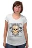 """Футболка для беременных """"Oblivion"""" - череп, ангел, дизайн, oblivion, забвение"""