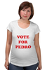 "Футболка для беременных ""Vote For Pedro"" - голосуй за педро, наполеон динамит, vote for pedro"