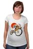 "Футболка для беременных ""Star Wars"" - star wars, bicycle, велосипед, bike, stormtrooper, звёздные войны, штурмовик"