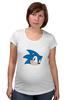 """Футболка для беременных """"Sonic hedgehog head"""" - nintendo, sonic, sega, сега, соник ёж, ёжик соник, video games"""