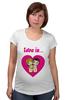 "Футболка для беременных ""love is..."" - heart, i love, love is"