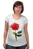 """Футболка для беременных """"С 8 марта!"""" - цветы, rose, роза, акварель, tseart"""