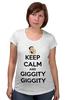 "Футболка для беременных ""Keep Calm and Giggity"" - keep calm, family guy, гриффины, giggity, гленн куагмаер"