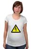 "Футболка для беременных ""напряжение"" - напряжение, voltage, high voltage"