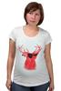 """Футболка для беременных """"Deer"""" - cool, red, олень, хипстер, shades, deer"""