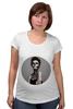 """Футболка для беременных """"Девушка скелет"""" - skull, арт, девушка, скелет, рисунок, мрачно, бодиарт"""