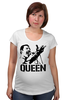 "Футболка для беременных ""Freddie Mercury - Queen"" - queen, фредди меркьюри, freddie mercury, куин, rock music"