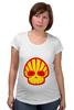 "Футболка для беременных ""Shell Skull"" - skull, череп, прикол, супер, стиль, логотип, shell"