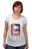 """Футболка для беременных """"Американский череп"""" - skull, череп, америка, usa, флаг"""