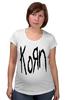 "Футболка для беременных ""Korn (KoЯn)"" - korn, ню-метал"