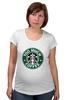 """Футболка для беременных """"Too Much Coffee"""" - пародия, starbucks, старбакс, слишком много кофе"""