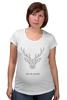 """Футболка для беременных """"Dear Deer"""" - рисунок, дизайн, олень, минимализм, рога"""
