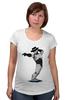 """Футболка для беременных """"Robocop x Jackson"""" - пародия, майкл джексон, mj, robocop, робот полицейский"""