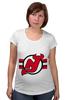 """Футболка для беременных """"Нью-Джерси Девилс"""" - хоккей, nhl, нхл, нью-джерси девилс, new jersey devils"""
