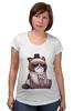 """Футболка для беременных """"Котик НЕТ"""" - кошка, grumpy cat, сердитый котик, соус тардар"""