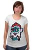 "Футболка для беременных ""Merry Deadmas "" - zombie, christmas, santa, merry"