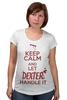 "Футболка для беременных ""Декстер"" - арт, dexter, декстер, сериал, keep calm, serial killer"