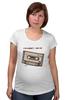 "Футболка для беременных ""Кассета1 ж"" - кассета, 90's, cassette tape, компакт-кассета, аудио"