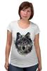 """Футболка для беременных """"Серый Волк"""" - animal, волк, wolf"""