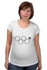 """Футболка для беременных """"Нераскрывшееся кольцо (снежинка)"""" - олимпиада, sochi, olympics, сочи 2014, нераскрывшееся кольцо, нераскрывшаяся снежинка, олимпийская эмблема"""