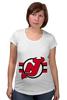 "Футболка для беременных ""New Jersey Devils"" - хоккей, nhl, нхл, нью-джерси девилс, new jersey devils"