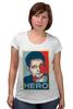 """Футболка для беременных """"Герой (Эдвард Сноуден)"""" - obey, hero, edward snowden, эдвард сноуден"""