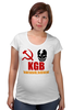"Футболка для беременных ""KGB Russia"" - россия, russia, путин, кгб, kgb"