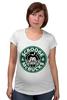 """Футболка для беременных """"Scrooge McBucks (Starbucks)"""" - пародия, coffee, старбакс, скрудж макдак"""