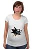 "Футболка для беременных ""San Jose Sharks"" - 3d, хоккей, swag, нхл, сан-хосе шаркс"