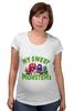 """Футболка для беременных """"Пушистые монстры"""" - хэллоуин, монстр, дракон, комиксы, зубы"""