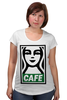 "Футболка для беременных ""Starbucks (Obey)"" - кофе, obey, starbucks, старбакс, cafe"